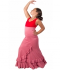 "Gonne Flamenca di Ballo ""Salon"" Per Bambina"