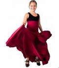 Gonna Flamenca 8 Godet Per Bamina