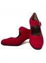 Scarpe Di Flamenco en Pelle Scamosciata Con I Chiodi
