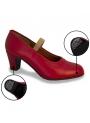 Scarpe Di Flamenco en Pelle Con I Chiodi
