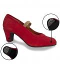 Scarpe Di Ballo Flamenco en Pelle Scamosciata Con I Chiodi