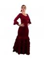 Completi Da Ballo Flamenco Mod. Sol Borgogna