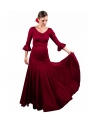 Completi Da Ballo Flamenco Mod. 8 Godet Borgogna