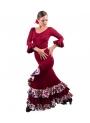 Completi Da Ballo Flamenco Mod. Estrella Borgogna