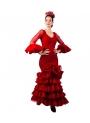 Vestito Di Flamenca Jaen Rosso -Talla 38 (M)