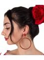 Orecchini Di Flamenca a Cerchiilo snello