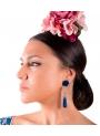 Orecchini Di Flamenco a Forma Di Lacrima