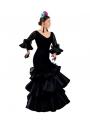 Costume Di Flamenco Helena Nero, Taglia 36 (S)