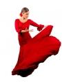 Completi Ballo Flamenco Mod. 8 godet Rosso
