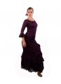 Completi Ballo Di Flamenco Mod.Salon Melanzana