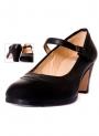 Scarpe Di Flamenco Pelle e Fibbia