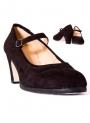 Scarpe da Ballo Flamenco en Pelle Scamosciata e Fibbia