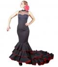 Gonna di Flamenco Di Coda 6 volantes, Vita Alta