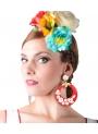 Orecchini Di Flamenco A cerchi con fiori