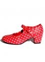 Scarpe Di Flamenca Pelle Sintetica A Pois Per Bambina