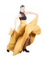 Gonne Flamenca 8 Godet Di Vita Alta