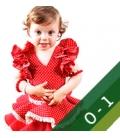 Vestiti di Flamenca Bambina - Taglia 0 1